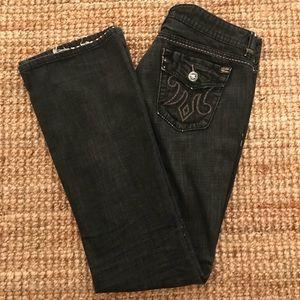 MEK Denim Jeans Women's 32x34 Dalian Faded Black