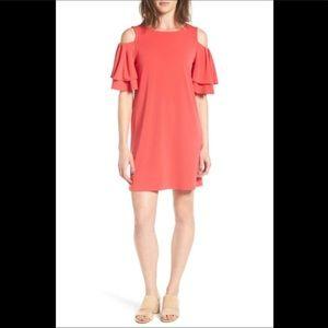 NWT Halogen Cold Shoulder Shift Dress Sz S