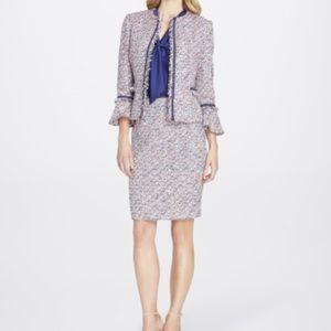 37f0bf89cb4 ... DRESS 👗 PRICE⬇️NWE Metallic Bouclé Bell-Sleeve Skirt Suit ...