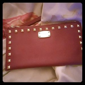 Red Michael Kors Clutch / Wristlet