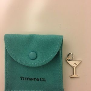 Tiffany & Co sterling silver martini glass charm