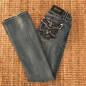 Miss Me Jeans Faded Destroyed Boot Frayed 27x30.5