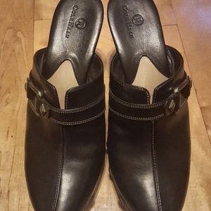 Cole Haan Leather Wedge Clogs