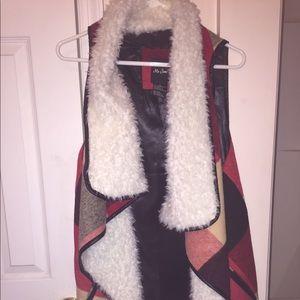 Cozy sleeveless cardigan sz XL