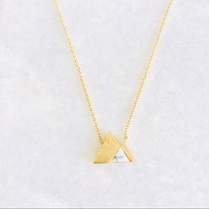 Stone Mountain Marble Gold Necklace