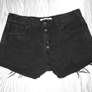 Distressed Hollister High Wasted Shorts