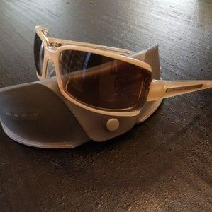 Miu Miu VGUC SMU13E Beige Modern Sunglasses
