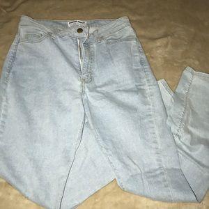 Light wash American apparel jeans