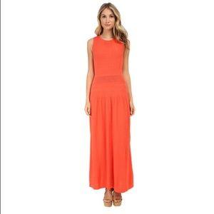 BCBG Delyse Pointelle Maxi Dress NWT