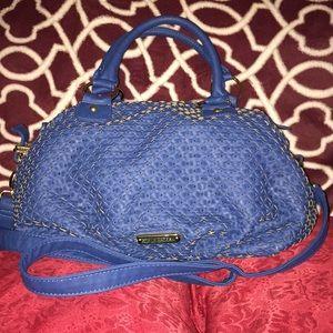 Steve Madden blue PVC  weave crossbody/ Tote Bag