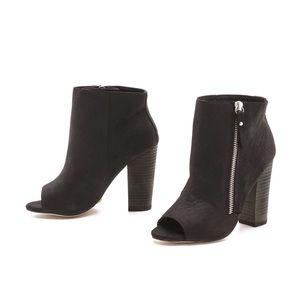 Zadig & Voltaire Open Toe Leather Booties 7.5 NEW