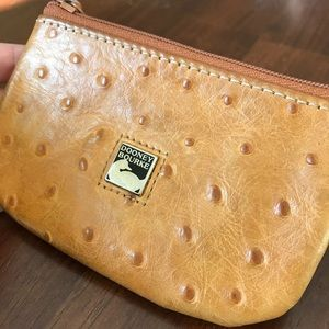 Dooney Bourke Light Brown Leather Change Purse
