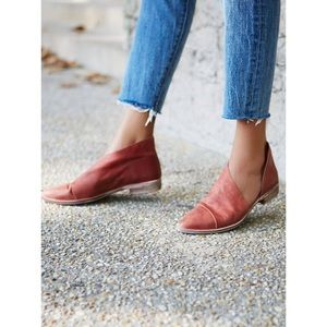 "NEW Free People ""Royale"" Distressed Leather Flats"