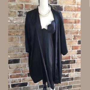 Victoria secret black xs silk robe and nighty