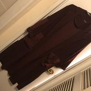 Burgundy light long jacket
