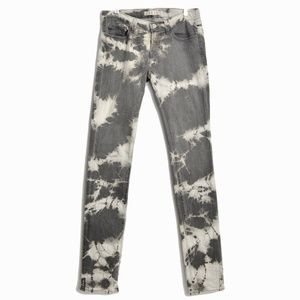 J Brand Low Rise Pencil Leg Cult Tie-Dye Jeans