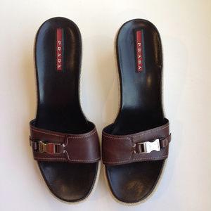 Prada Wedge Sandals