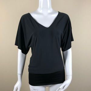 Express Solid Black Top