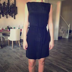 Casual black silk dress