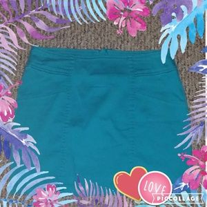 NEW NOLLIE Aqua Blue Mini Skirt L Large