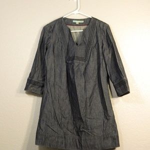Boden Chambray Dark Denim Size US 6 Dress