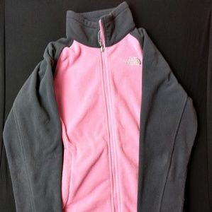 The North Face Full Zip Fleece Jacket Pink & Black