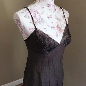 Victoria's Secret sheer black silk lingerie.