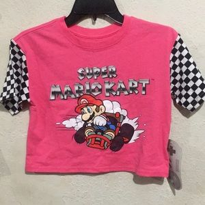 Super Mario Race 🏁 track Crop Tee!! 🏁😍
