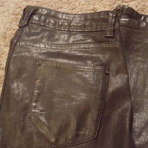 Zara shiny jeans size 8