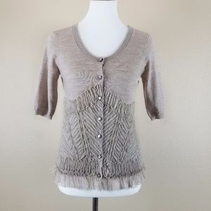 Anthropologie - Knitted & Knotted Ruffled Cardigan