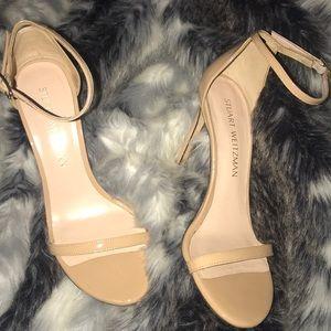 Stuart Weitzman Nudistsong Patent AnkleWrap Sandal