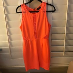 ASTR Coral Dress with Mesh