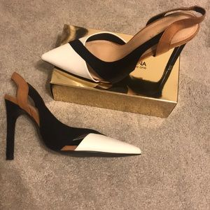 Nude/ Multi Sling-back Pumps / Heels- Size 39