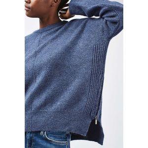 NEW Topshop Side Zip Sweater