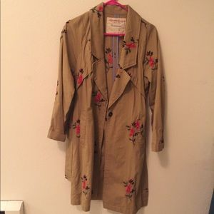 Anthropologie | Embroidered Trench Coat