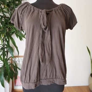GAP Brown Short Sleeve Blouse