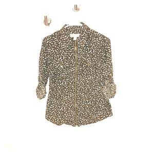 Michael Kors zipper down blouse