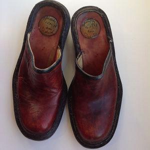 Handmade Joseph Bach clogs shoes dated 1-16-98