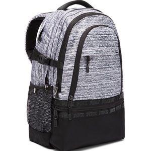 NWT PINK Victoria's Secret Grey Marl Backpack