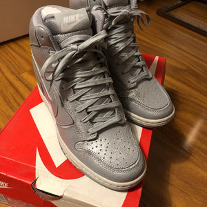 NEW Nike Dunk Sky Hi Sneakers Wedge 6.5 Wolf Grey