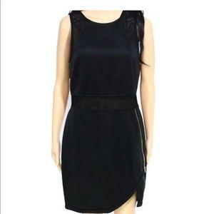 NWT Astr black mesh dress