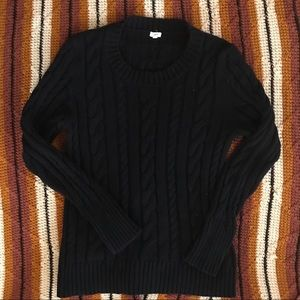 Dark navy blue j. Crew cable knit sweater