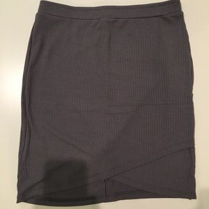 NTW Grey bodycon skirt