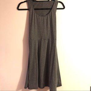 BCBG | striped dress with back cutouts