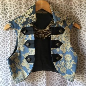 hand made satin pirate vest.