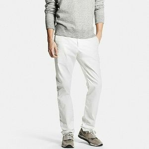 White Slim Fit Chino Flat Front