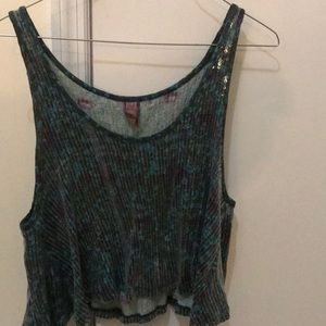 FREE PEOPLE SEQUINS LIMITED EDITION CROP TOP SMALL