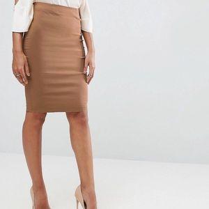ASOS camel pencil skirt