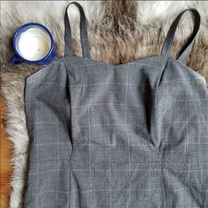Plus Size Plaid Sleeveless High Waist Dress
