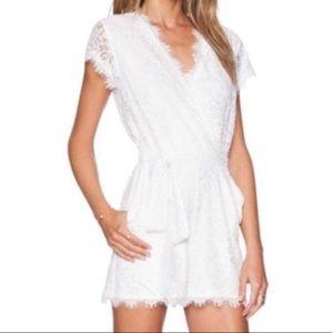 DVF White Lace Romper